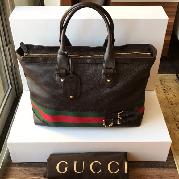 23b4e800705 Gucci Handbags - Gucci luggage overnight travel duffle bag! Leather